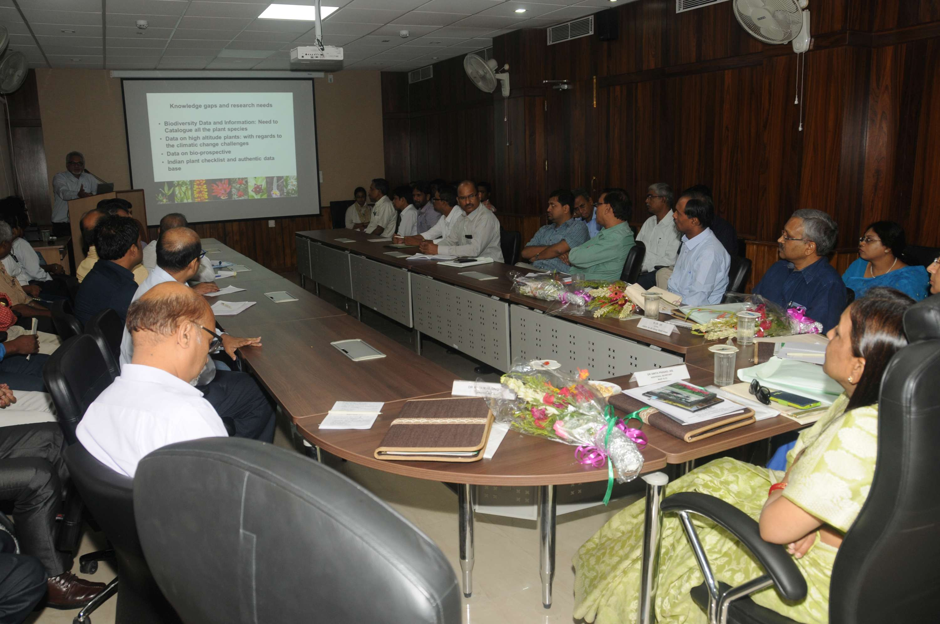 Visit of Addl. Secretary,  Dr. Amita Prasad to BSI